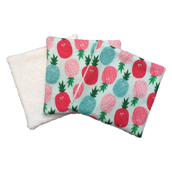 Reusable Cotton Wipes -  047 PINEAPPLES