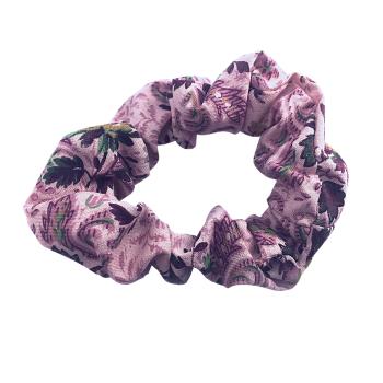 Scrunchie - Floral Dusky Pink