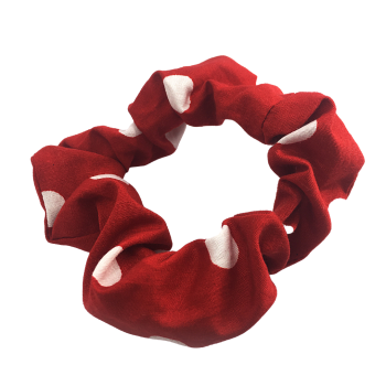 Scrunchie - Red with White Spots