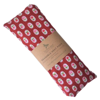 Heat Pad - Red with Pink Flowers