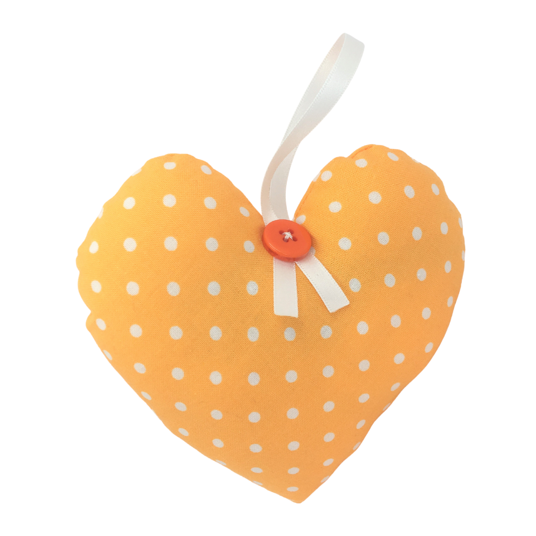 Personalised Keepsake Heart - Yellow/White Spots