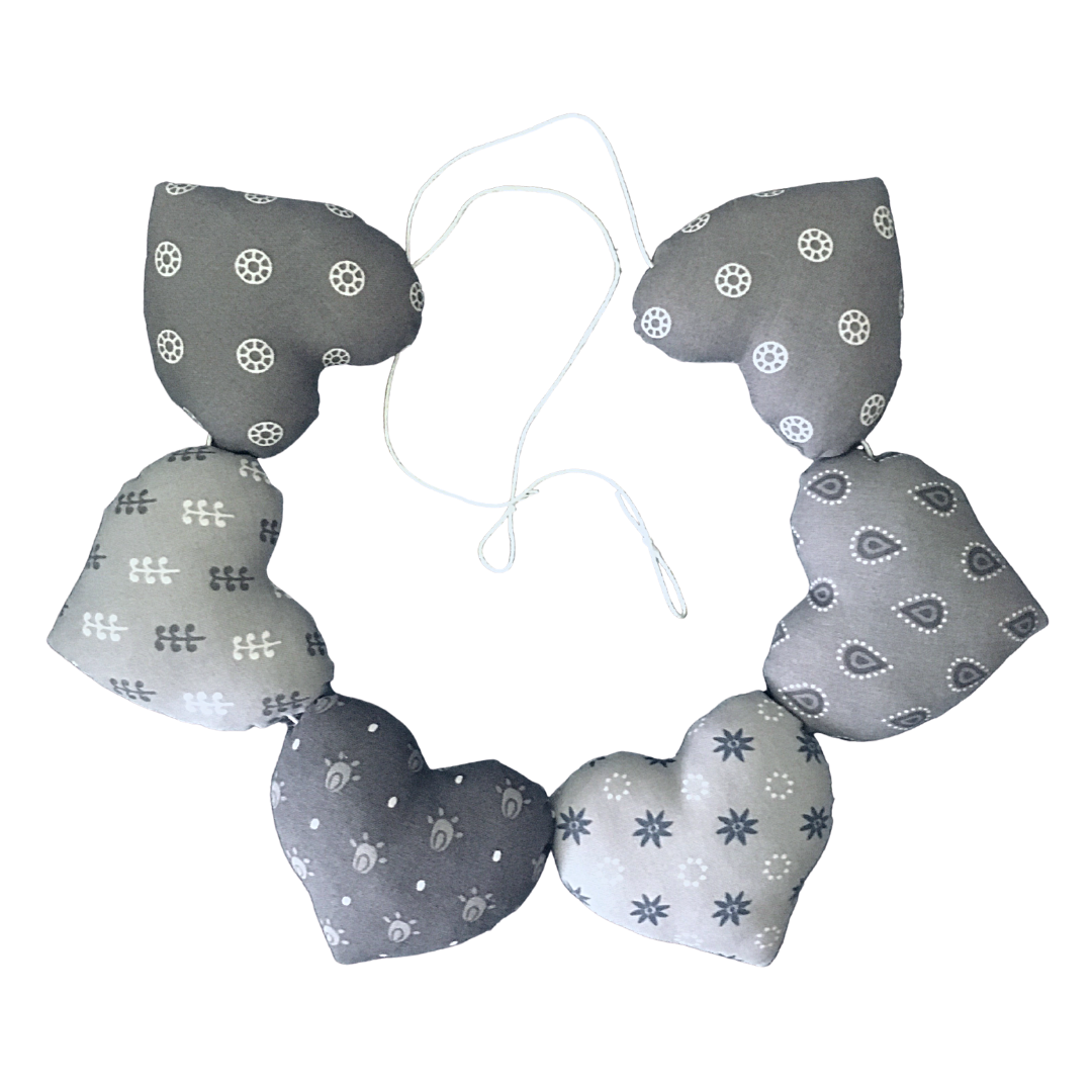 Heart Garland - Dark Grey
