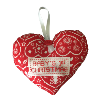 Baby's 1st Christmas Hanging Heart Decoration.