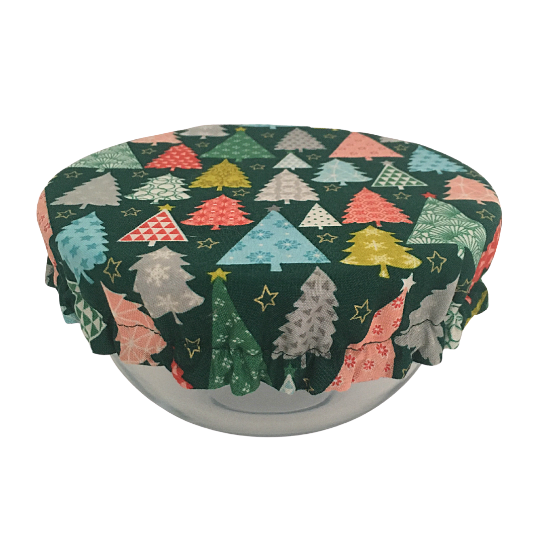 Bowl Cover - Green Trees