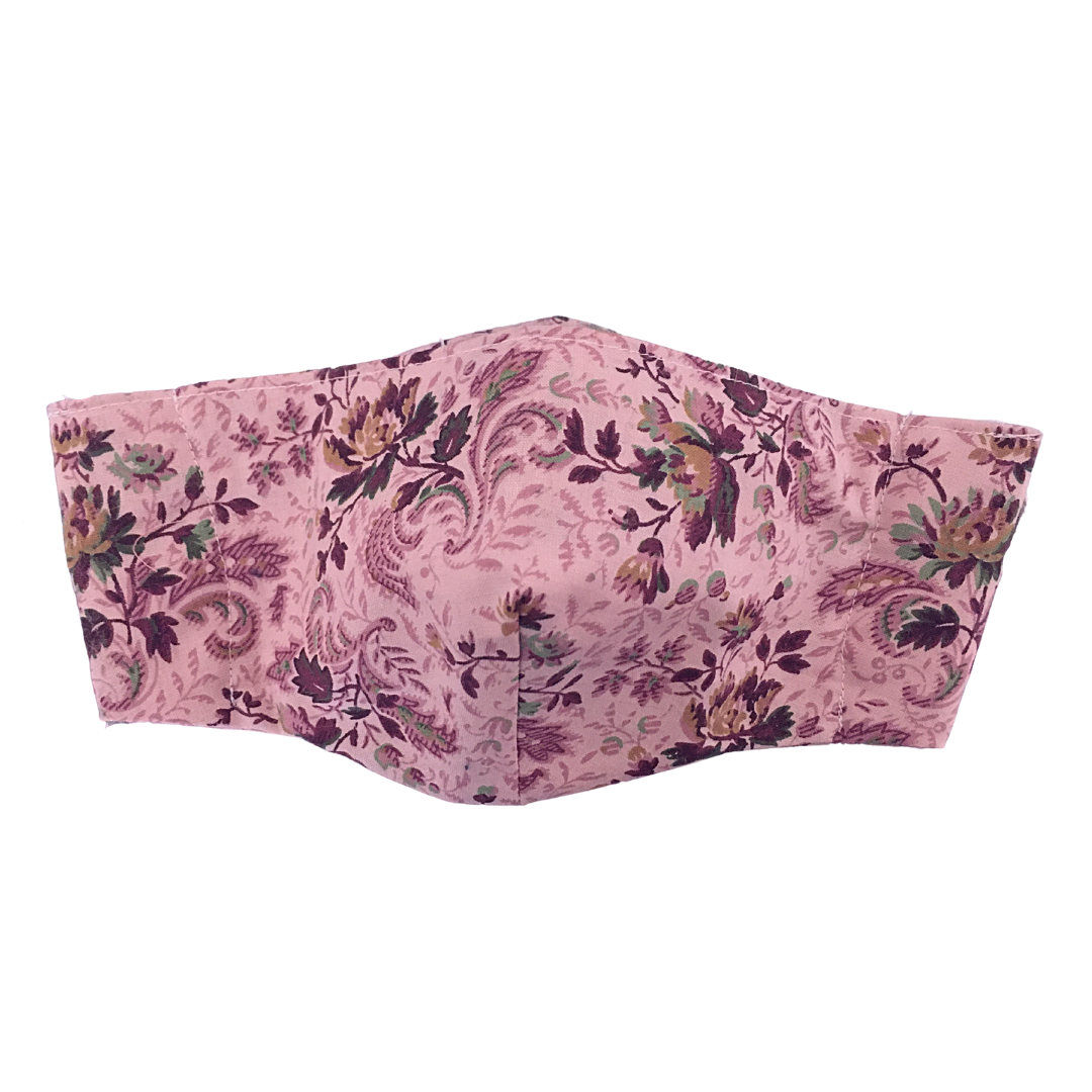 Shaped Cotton Face Mask - Pink