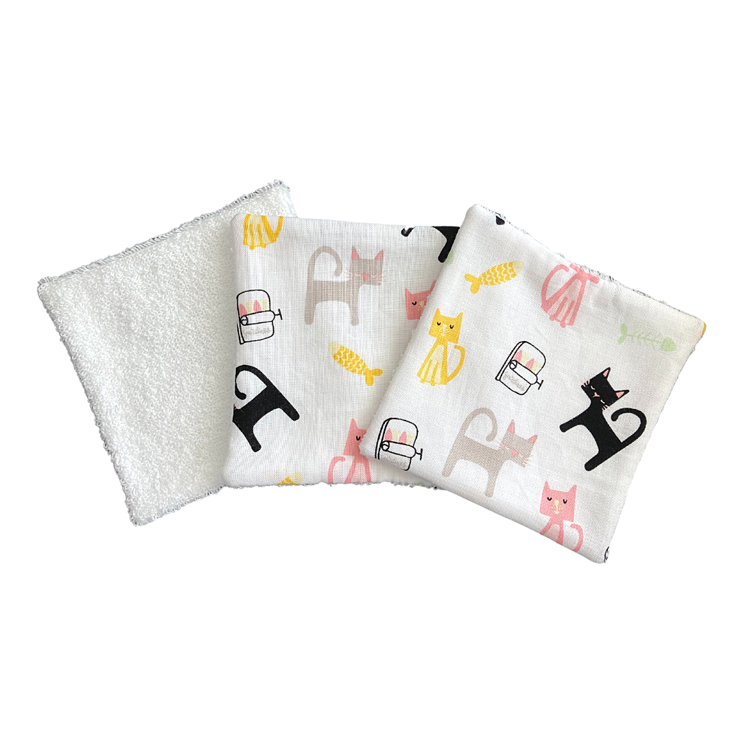 Reusable Cotton Wipes  - CATS (111)