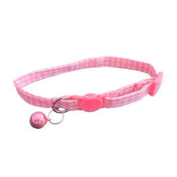 Cat Collar - PINK GINGHAM