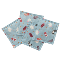 Coasters - Pack of 4 - Guinea Pigs and Rabbits (129)