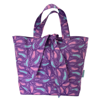 Cotton Tote Bag - Peacock Feathers - (159)