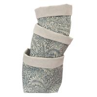 Fabric Baskets - set of 3 - (168) William Morris
