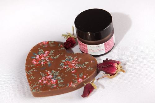 Lip Balm in Gift Box with Chocolate Heart - Cocoa Rose