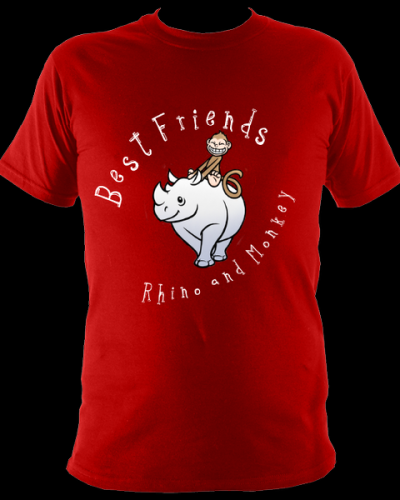 Best Friends T shirt Red
