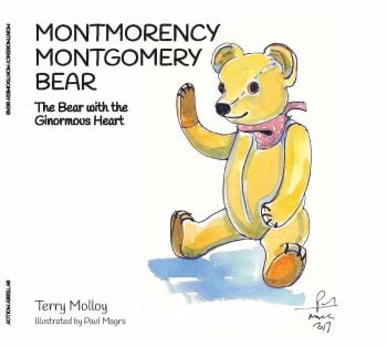 NEW! Montmorency Montgomery Bear - The Bear with the Ginormous Heart by Terry Molloy