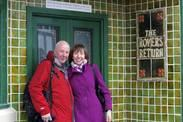 Glenda & Barry outside the Rovers