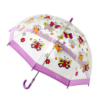 BUGGZ Clear PVC Butterfly Child's Dome Umbrella