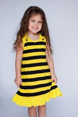 Beautiful Buzzy Bee Girls A-Line Dress by Designer Noo