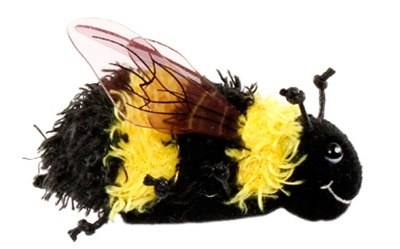Cute Fluffy Bee Finger Puppet