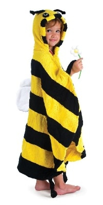 Lovely Kidorable Kid's Bee Towel Robe Age 3-6