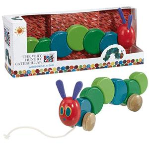 Wonderful Very Hungry Caterpillar Wooden Pull Along Toy