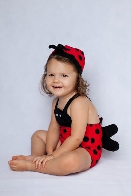 Fabulous Ladybird Swimsuit / Swimming Costume Set with Hat by Noo