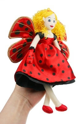 Lovely Ladybird Fairy Finger Puppet / Doll