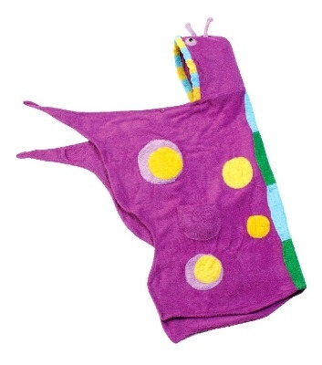 Lovely Kidorable Kid's Purple Butterfly Towel Age 3-6