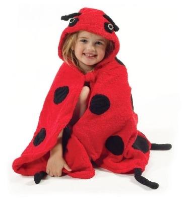 Lovely Kidorable Kid's Ladybird / Ladybug Towel Age 3-6