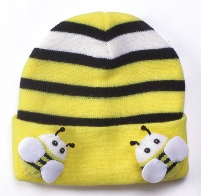 Fun Bright Kidorable Knitted Bee Hat Boy / Girl 3-6 Years - Great Gift!