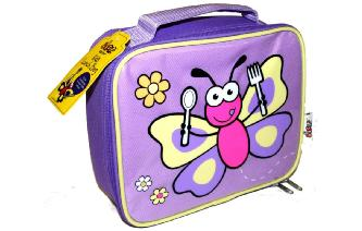 Cute BUGGZ Purple Butterfly Lunch Bag - Lovely Gift!