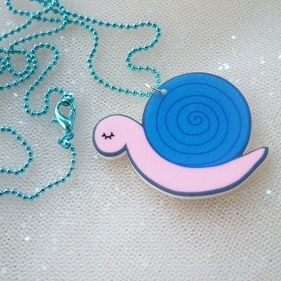 Cecil the Snail Necklace