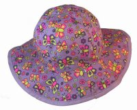 Bright & Fun BUGGZ Butterfly Children's Cotton Sun Hat