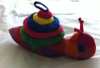 Colourful Snail with Detachable Shell by Ethical Comapny Barefoot