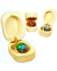 Wiggly Wooden Jitter Bugs / Nut Bugs - Various Colours