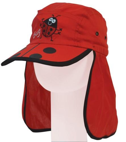 Funky Cotton Ladybird Ladybug Legionnaire's Sunhat