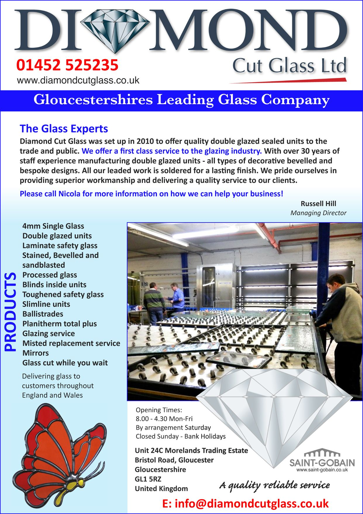 Glass gloucester