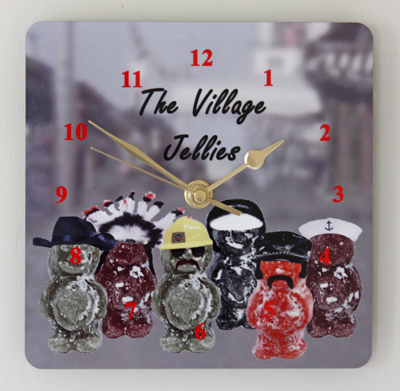 The Village Jellies - Square Clock