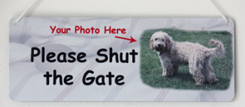 Personalised Please Shut the Gate Sign