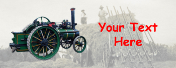 Steam Traction Engine - Personalised