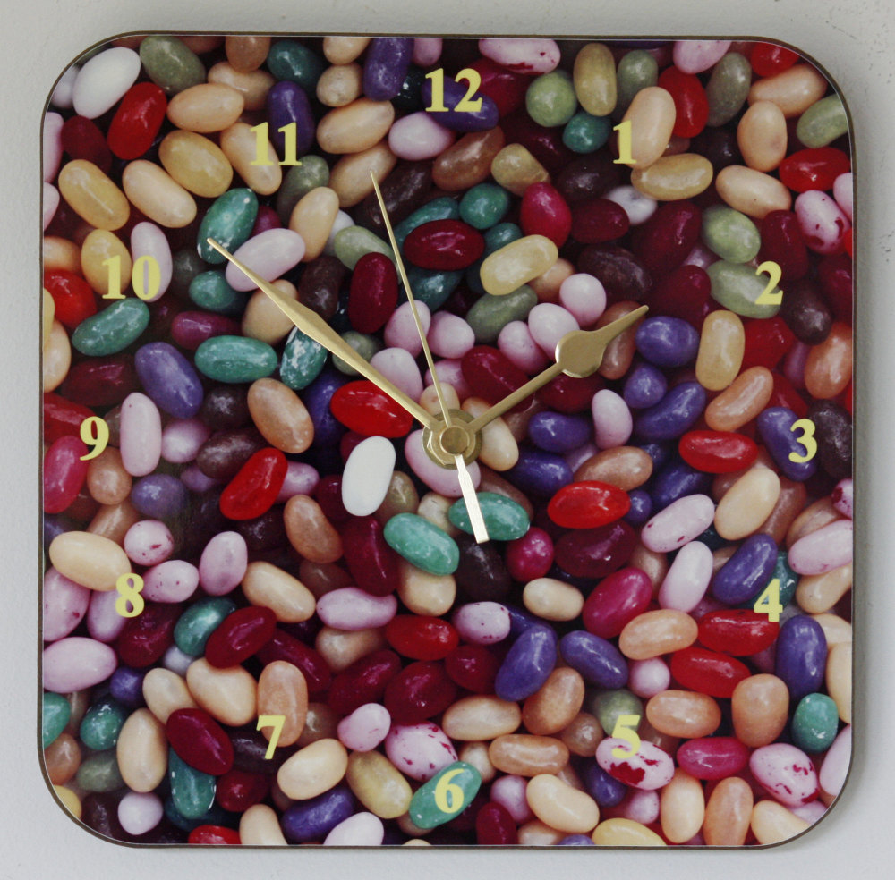 Jelly Beans - Square Clock