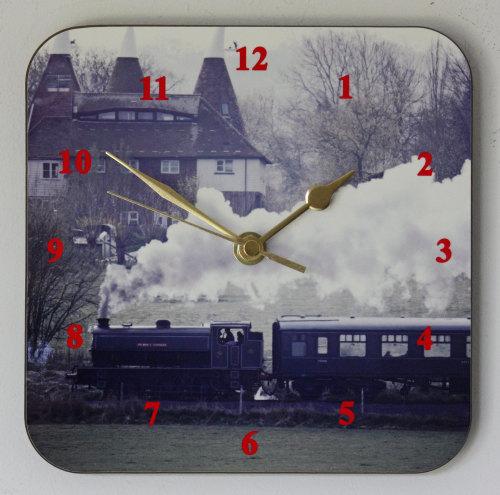 Steam Train - Square Clock