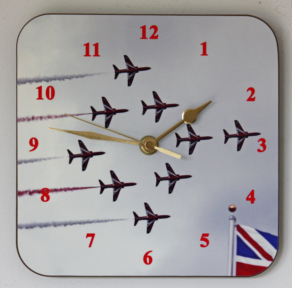 The Red Arrows - Square Clock