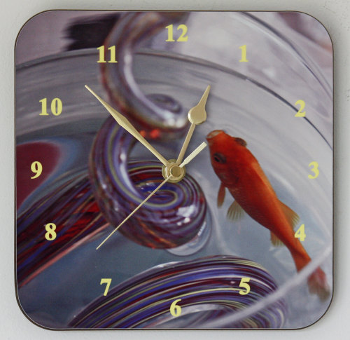 Goldfish - Square Clock
