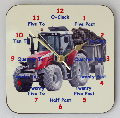 Tractor clock for Learning to tell the Time