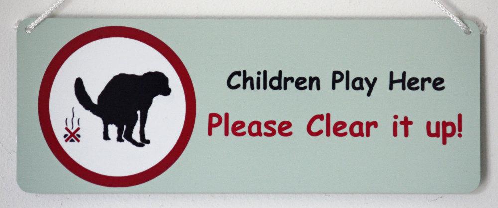 Dog Warning Sign - Children Play Here.......