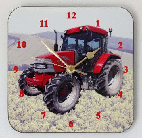 Tractor - Square Clock