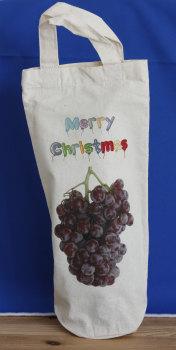 Bottle Bag - Merry Christmas (Handles)