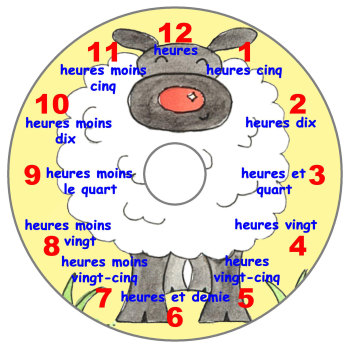 Sheep Teaching Clock (French)
