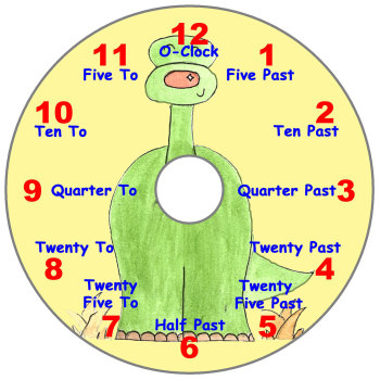 Dinosaur Teaching Clock (English)