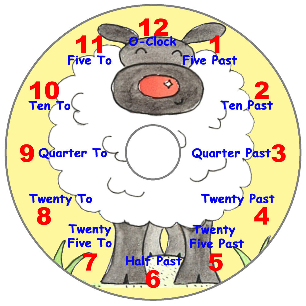 Sheep Teaching Clock (English)