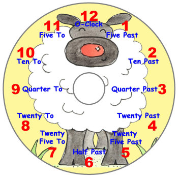 Sheep Teaching Clock (English)